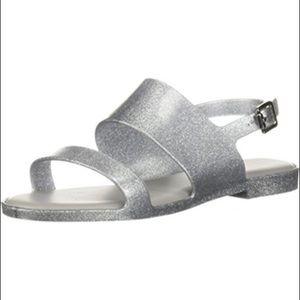 👠 SALE! Melissa Silver Girls Sandals